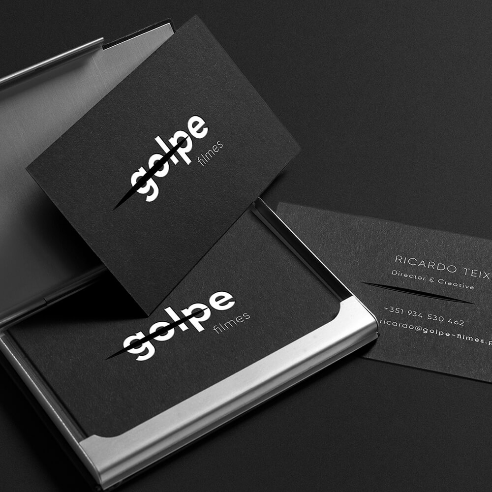 business cards golpe